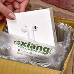 緩衝氣墊充氣方塊型膠膜-包裝範例-紙箱內空隙填充保護-祥昊科技airbubble